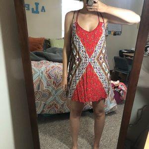 Flowy summer dress colorful Macy's